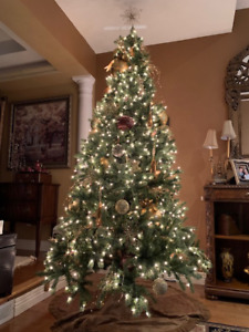 Extra Large Tree Ornaments and Topper in gold tones