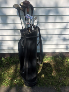 Golf bag and golf clubs for sale