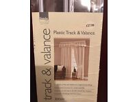 Plastic Track & Valance 300cm Curtain Track. (2 Available priced Each £10)