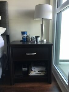Moving Sale: Set of Dark Brown Bedroom Night Tables