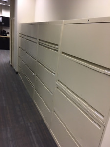 Five Lateral commercial filing cabinets $100 each - Quick
