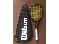 WILSON BLADE 16 x 19 L4 Tennis Racquet & Case (Almost new)