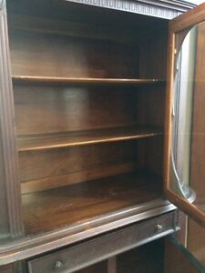 RARE ANTIQUE DISPLAY CABINET - WALNUT!!!