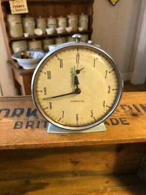 Vintage Timecal Smiths Pale Blue Bedside Alarm Clock – Retro!