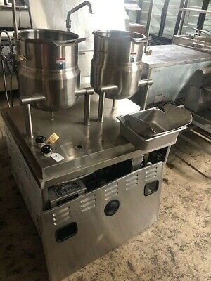 Market Forge Dual Steam Jacketed Tilt Kettle-model M36f3ga- Never Been Used