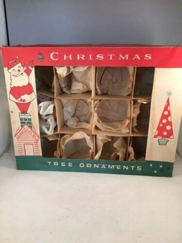 Vintage Christmas Fantasia Ornament Display Storage Diorama Box ONLY Poland