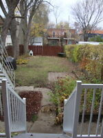 Ahuntsic 1st floor of duplex, with backyard for Sept 1st