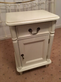 Laura Ashley Bedside Cabinet (Clifton Cotton White Left Hand) £95