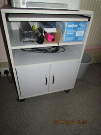 Small Movable Printer/Fax table (light grey)