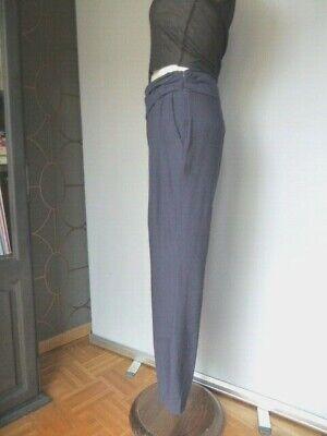 Zara pantalon fluide marine taille drapée  style sarouel t 38 - parfait etat