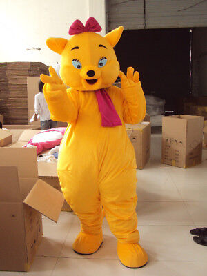 Cute Cat Mascot Costume Suits Halloween Cosplay Party Game Dress Adults Fun](Fun Halloween Party Games)