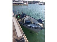 Bass Boat with 25hp Yamaha Outboard