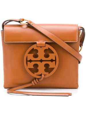 NWT IN PLASTIC TORY BURCH MILLER CROSSBODY LEATHER  AGED CAMELLO BROWN - Age Leather