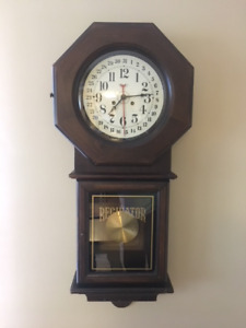 New England Clock Company 14 Day Cathedral Gong Regulator Clock