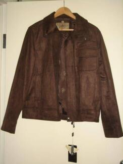 3107c314caa0f Italian Brown Suede Leather Jacket - Medium Size BRAND NEW