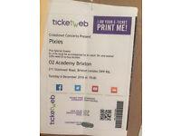 1 ticket for Pixies, Brixton, Dec 6