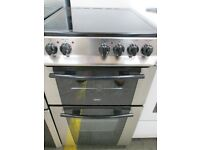 **//**ZaNuSsI BLACK/SILVER 50 CMS CERAMIC TOP ELECTRIC COOKER/GOOD CONDITION/VERY CLEAN/**