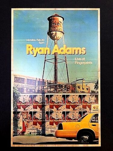 Ryan Adams - Live At Fingerprints 2/20/17 Concert Poster LTD. Original Press