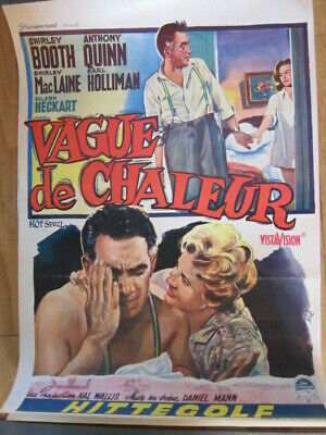HOT SPELL Belgium poster 1958 Shirley Booth, Anthony Quinn