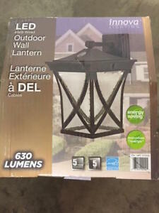 Led Hard Wired  Outdoor Wall Lantern Light