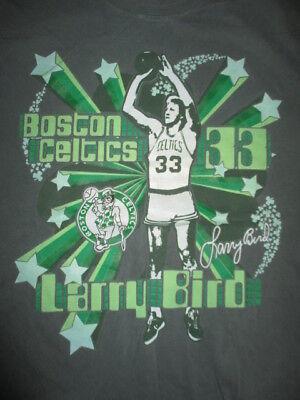 Hardwood Classic LARRY BIRD No. 33 BOSTON CELTICS (MED) T-Shirt
