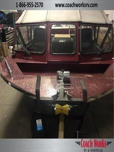 Pre owned jet boat Custom weld w/campertop and accessories