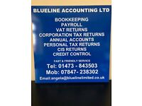 BLUELINE ACCOUNTING LTD - CIS / VAT / PERSONAL TAX RETURNS & BOOKKEEPING SERVICE
