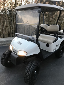 2009 white  lifted battery EZGO RXV