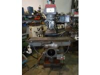 XYZ KRV 3000 SL TURRET MILLING MACHINE