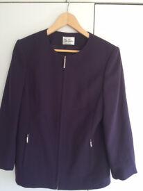 Ladies Designer Jacket, Betty Barclay - Purple, size 12