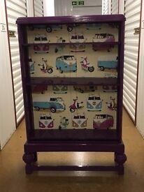 Purple gloss bookcase for sale - £15