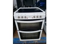 White 'New World' Ceramic Top Electric Cooker - Free local delivery