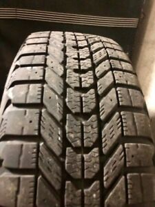 4X16in 205/60R16 Firestone Winerforce winter tires on black rims