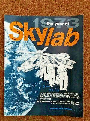 1973 NASA JSC Manned Flight Awareness Poster: 1973 The Year of Skylab -- RARE!