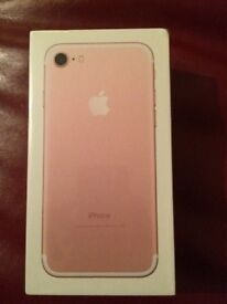 unopened iphone 7 32gb rose gold on EE for sale