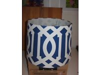 Blue & White Moroccan Light Shade