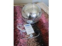 Disco Mirror Ball with motor
