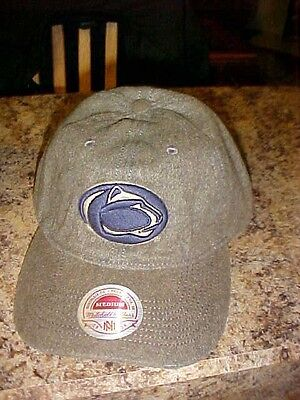 Penn Distressed Hat - Penn State Mitchell & Ness Distressed Hat/Cap New w/ Tags Adult M Free Ship Grey