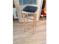 retro faux leather covered bar stool