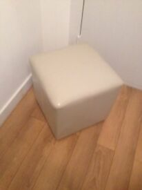 Small tan coloured faux leather stool