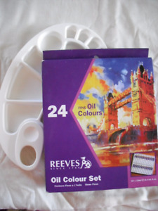 REEVES - 24 Oil Colour Set & Paint Tray