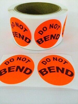 250 Big Do Not Bend Label Sticker 2 Round Best Price Stickerlabel Do Not Bend