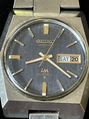 Vintage SEIKO LM 5606-6070 automatic watch, 23 jewels,1970s, Not Working