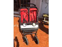 Mountain Buggy Duet with no flat tyres & accessories
