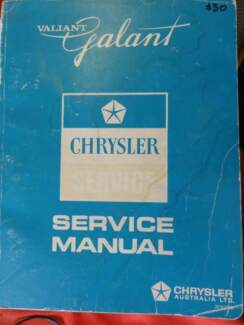 CHRYSLER VALIANT GALANT AI A11 AND GA SERVICE MANUAL c1971 Dianella Stirling Area Preview