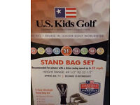 """US Kids Golf 51"""" golf clubs, bag and trolley"""