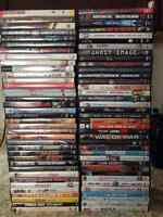 Lot of 77 DVD'S For Sale -Most Are Hit Movies, Some Never Opened