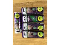 brand new tennis balls. 5 five airtight tins of brand new slazenger wimbledon tennis balls