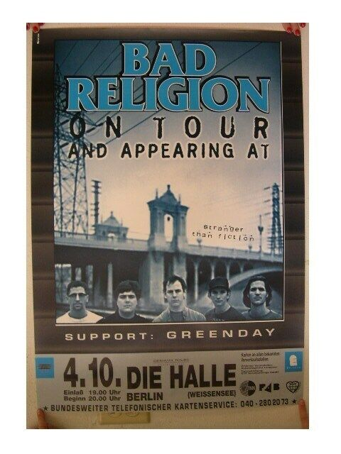 Bad Religion Green Day Poster Concert Berlin