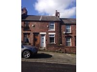 Solid terraced house. Warm and cosy with two good sized bedrooms and downstairs shower room.